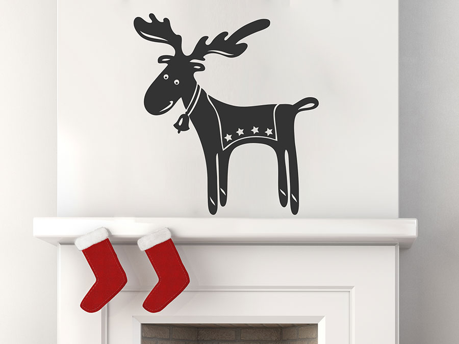 Wandtattoo elchmotiv f r weihnachten wandtattoo de for Wandtattoo weihnachten