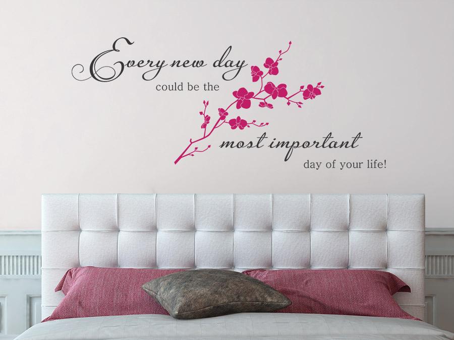 wandtattoo every new day spruch von. Black Bedroom Furniture Sets. Home Design Ideas