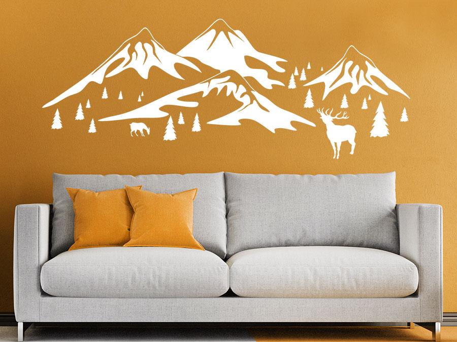 Wandtattoo Berge Landschaft