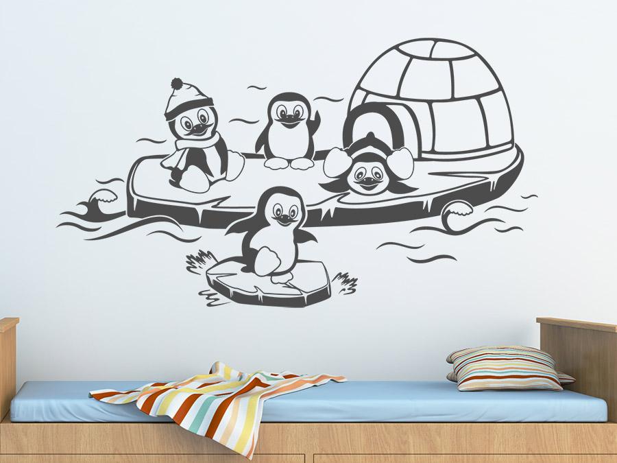 wandtattoo pinguinfamilie bei. Black Bedroom Furniture Sets. Home Design Ideas