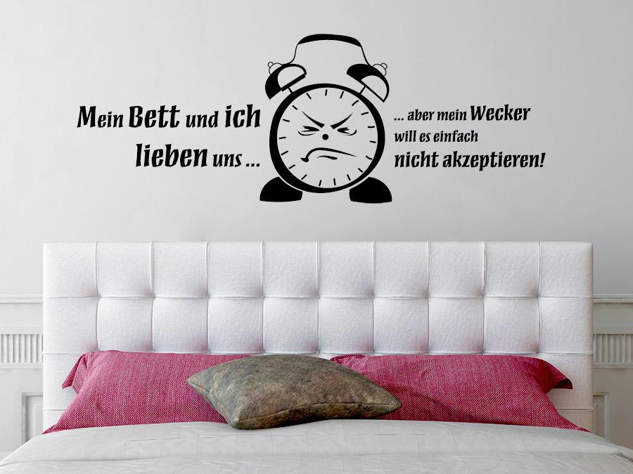 Wandtattoo Mein Bett und ich lieben uns... | Wandtattoos.de