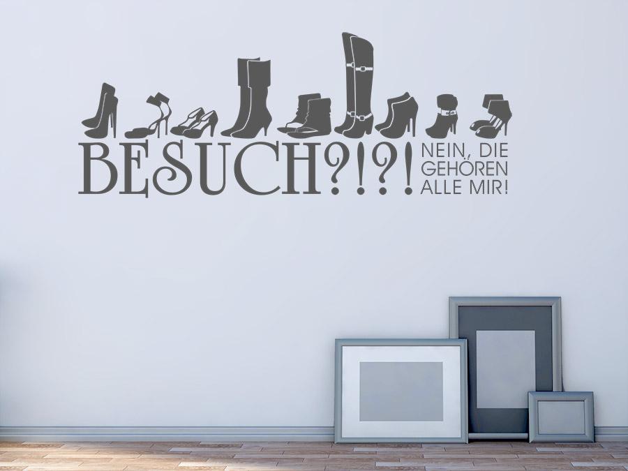 Wandtattoo Alle mir! Spruch für Schuhfans | WANDTATTOO.DE