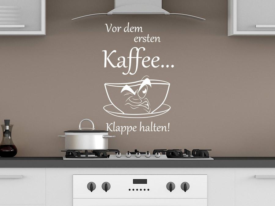Wandtattoo Vor dem ersten Kaffee bei Homesticker.de