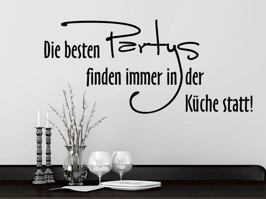 Wandtattoo Die besten Partys finden immer in... | WANDTATTOO.DE