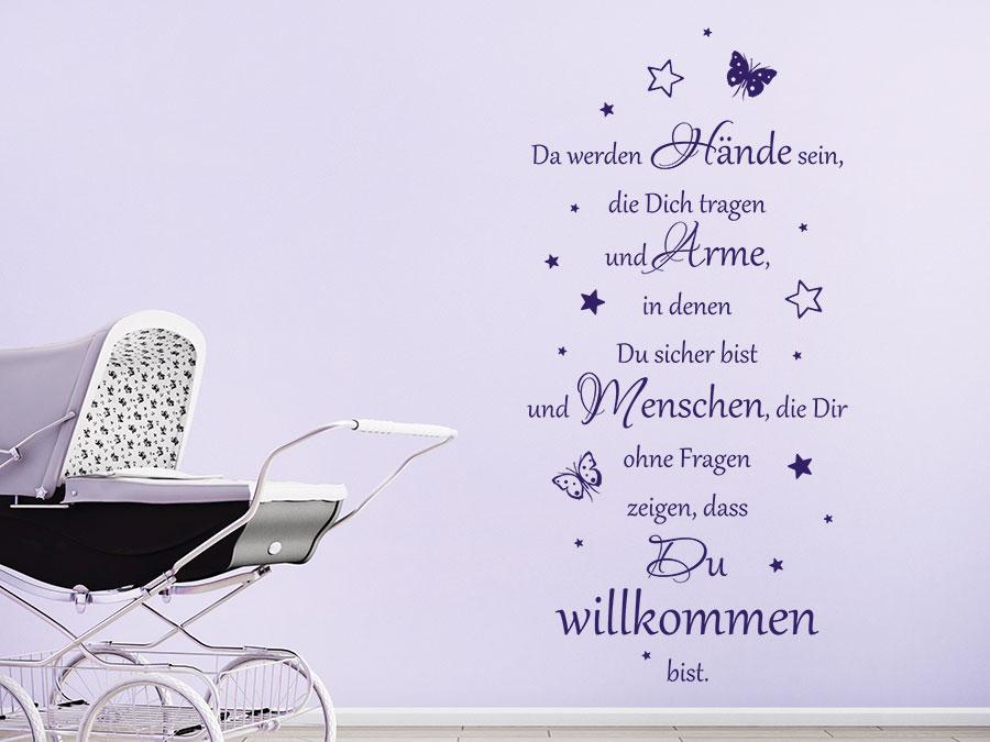 Perfekt Wandtattoo Da werden Hände sein, die dich | WANDTATTOO.DE WH08