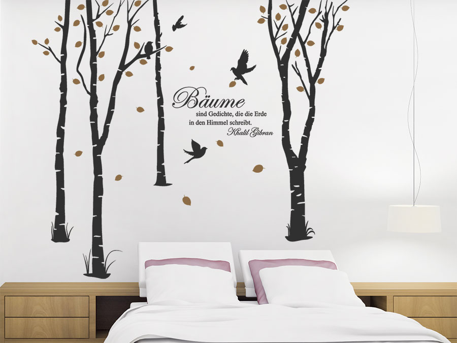 wandtattoo zweifarbige b ume von. Black Bedroom Furniture Sets. Home Design Ideas