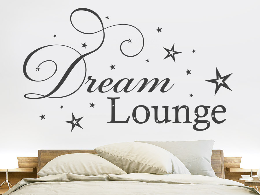 wandtattoo dream lounge von. Black Bedroom Furniture Sets. Home Design Ideas