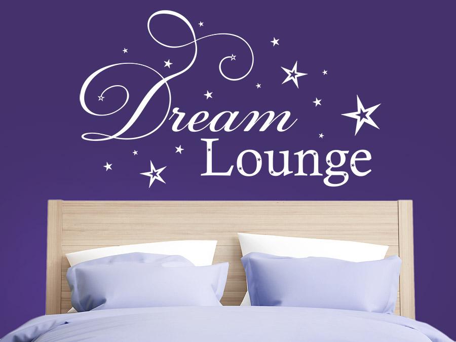 Wandtattoo dream lounge mit sternen bei - Wandschablonen schlafzimmer ...
