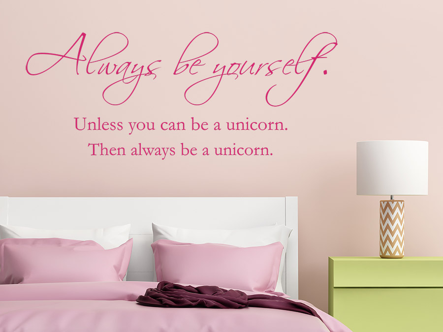 wandtattoo be yourself be a unicorn wandtattoo de. Black Bedroom Furniture Sets. Home Design Ideas