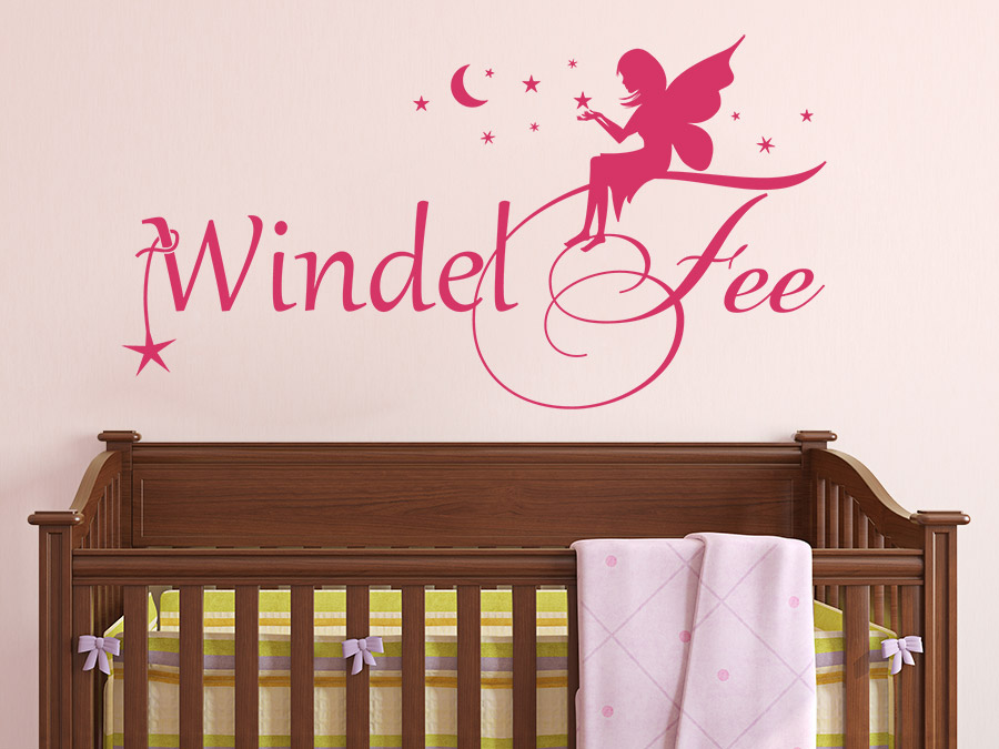wandtattoo windelfee f rs babyzimmer wandtattoo de. Black Bedroom Furniture Sets. Home Design Ideas