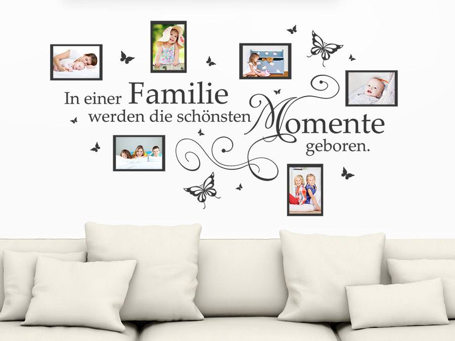 wandtattoo fotorahmen in einer familie werden. Black Bedroom Furniture Sets. Home Design Ideas