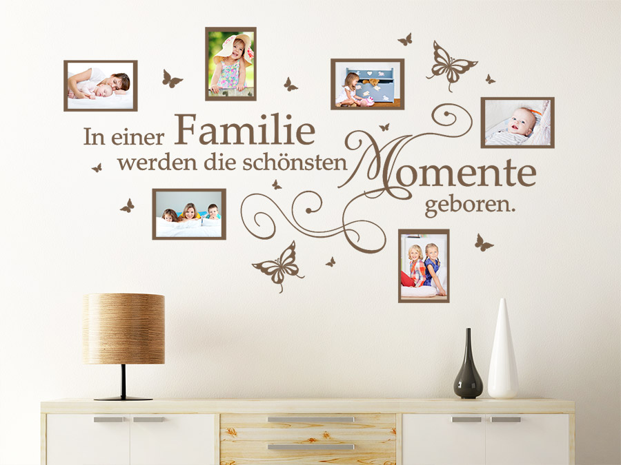 wandtattoo fotorahmen momente in einer familie bei. Black Bedroom Furniture Sets. Home Design Ideas