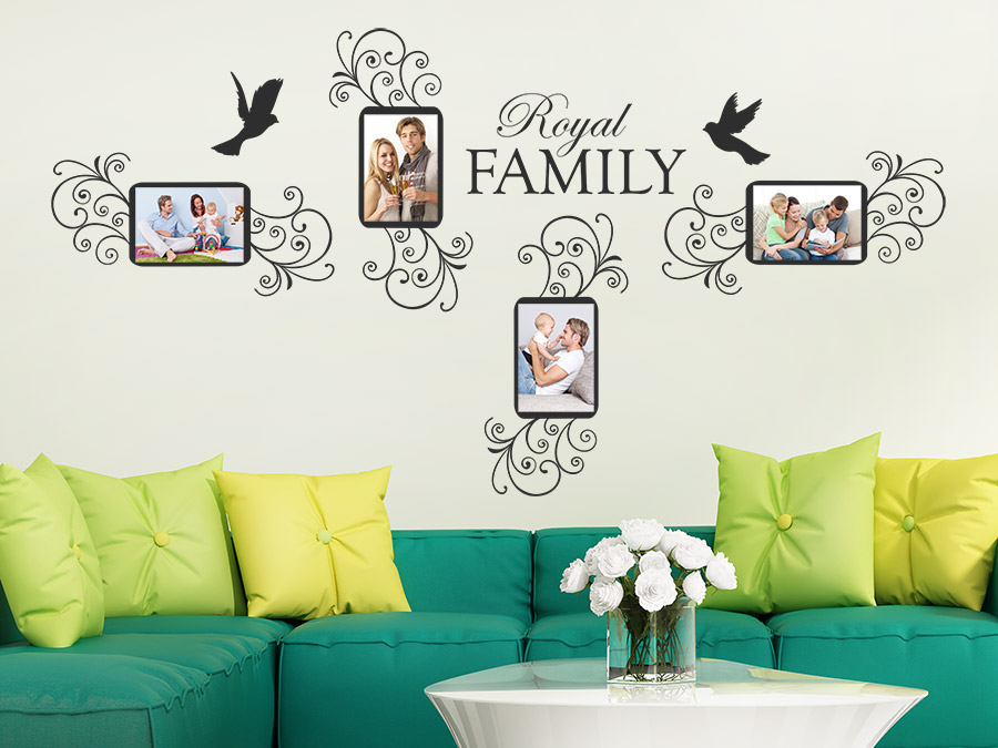 wandtattoo royal family fotorahmen mit v geln wandtattoo de. Black Bedroom Furniture Sets. Home Design Ideas