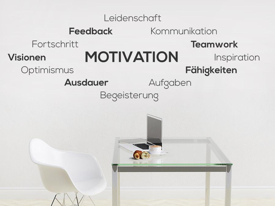 Wandtattoo Motivation - Wortwolke : WANDTATTOO.DE