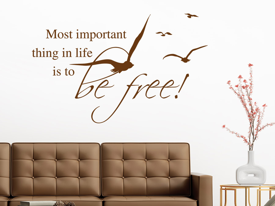 Wandtattoo to be free wandtattoo de - Wandspruche wohnzimmer ...