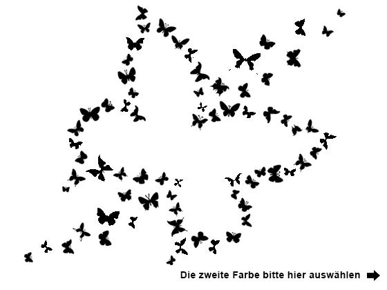 Farbe Auswählen Für Wandtattoo Zweifarbiger Schmetterling