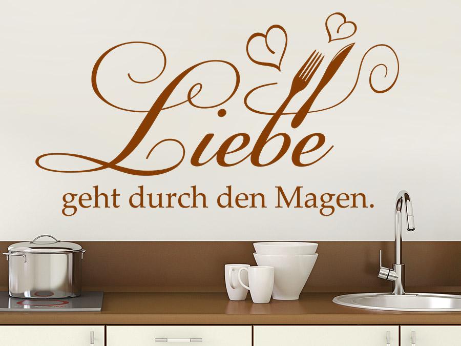 Wandtattoo Liebe geht durch den Magen | WANDTATTOO.DE