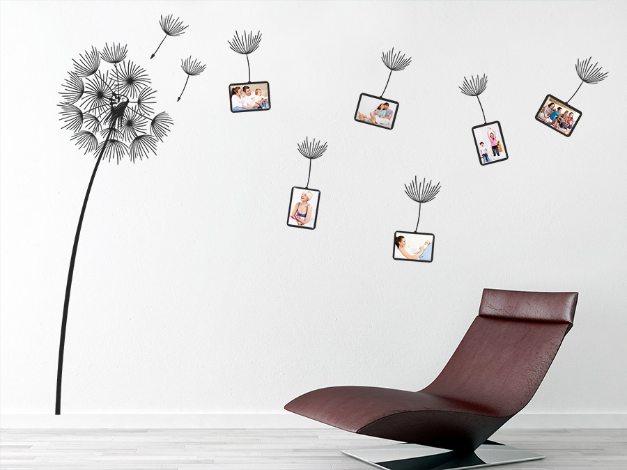 das wandtattoo fotorahmen pusteblume im wind bei. Black Bedroom Furniture Sets. Home Design Ideas