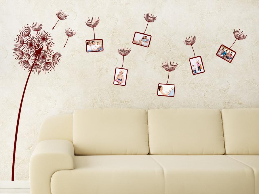 wandtattoo fotorahmen pusteblume von. Black Bedroom Furniture Sets. Home Design Ideas