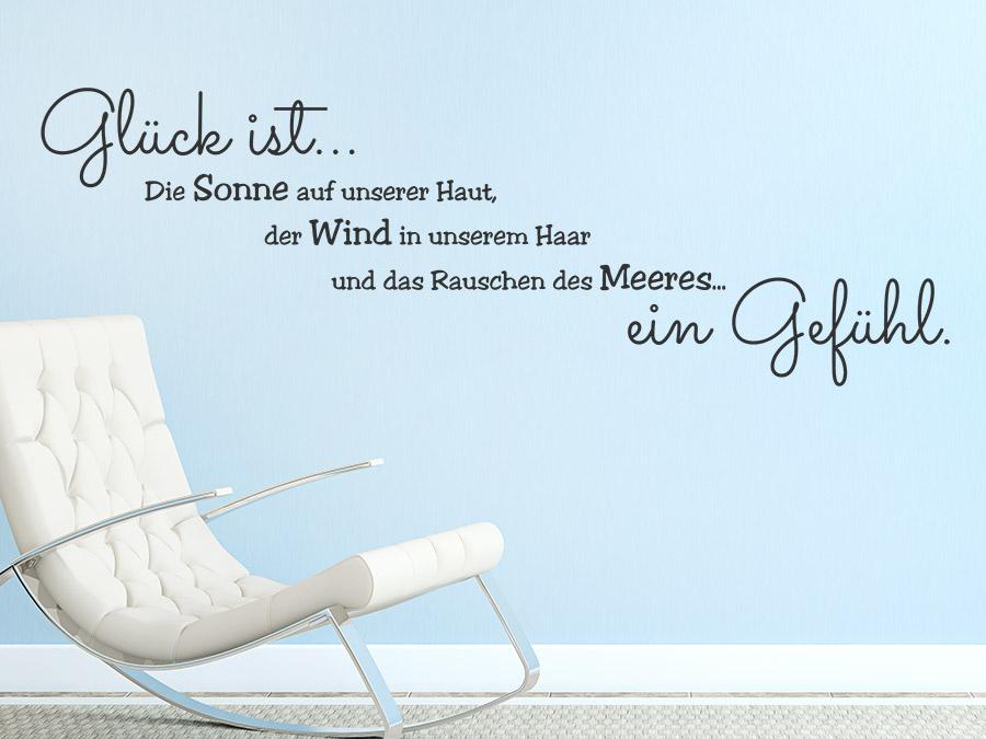 Wandtattoo Glück ist ein Gefühl von Wandtattoo.de
