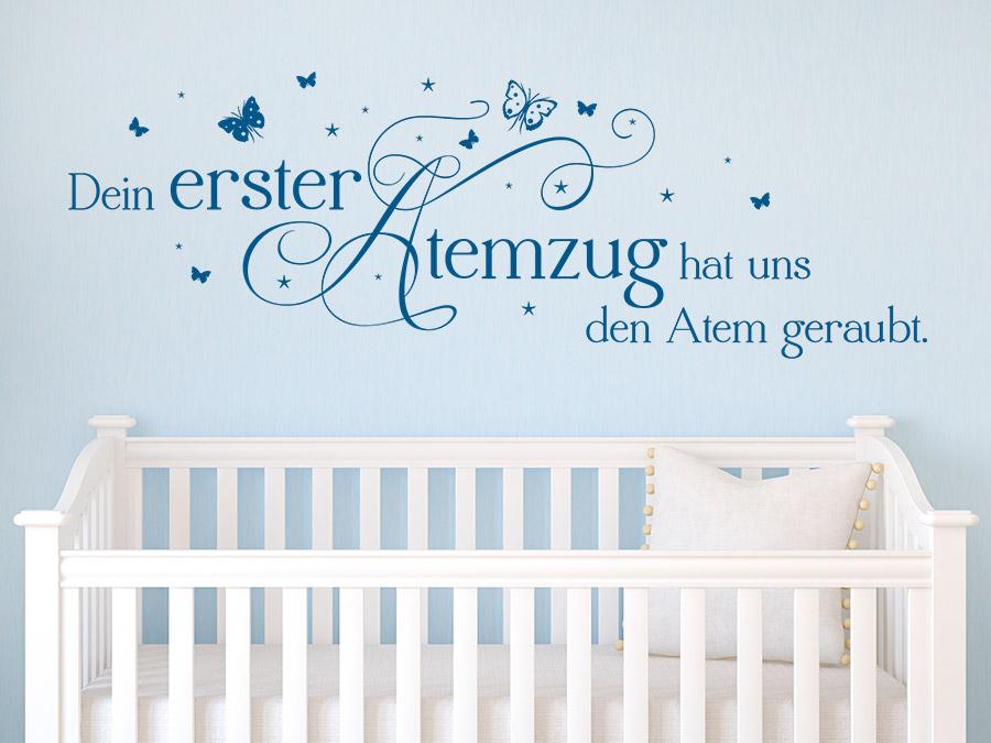 Babyzimmer Len wandtattoo dein erster atemzug fürs babyzimmer wandtattoo de