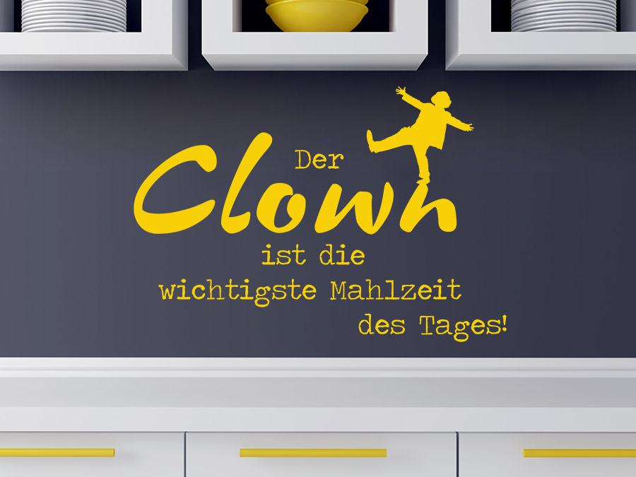 Wandtattoo Der Clown ist die wichtigste Mahlzeit | WANDTATTOO.DE