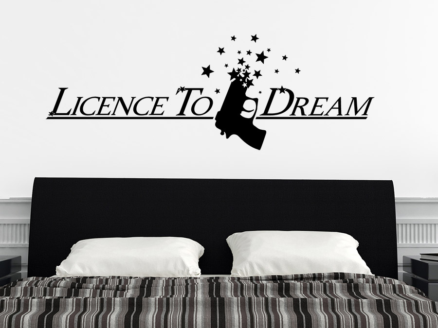 Wandtattoo Licence to dream