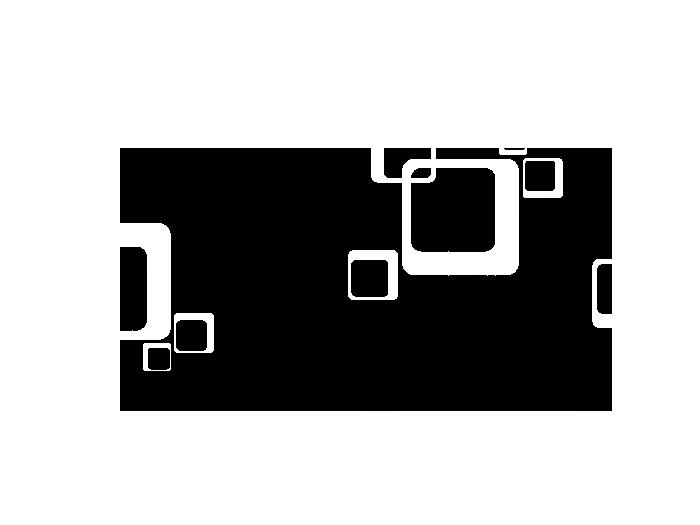 Ansicht Zweifarbige Retro Cubes als Wandtattoo