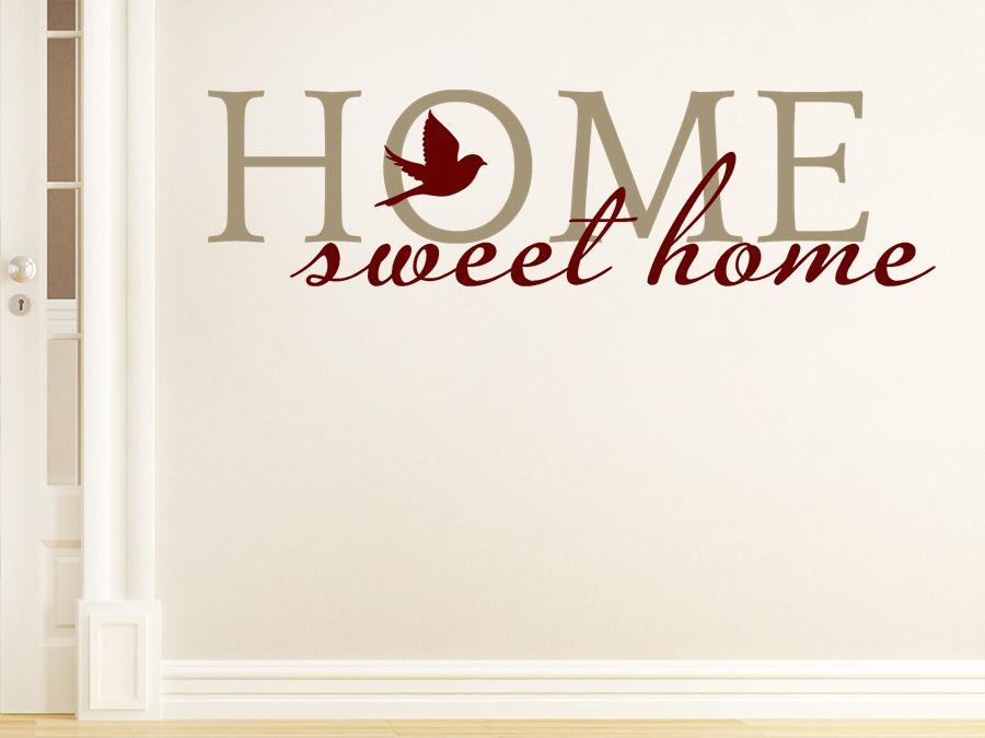 Wandtattoo sweet home zweifarbig von for Wandgestaltung zweifarbig