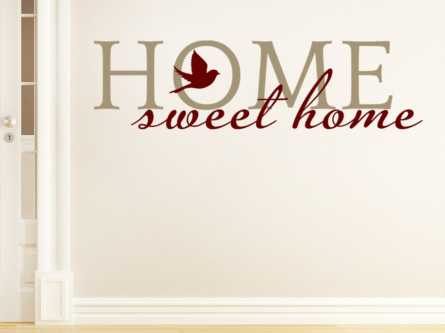 Wandtattoo sweet home zweifarbig wandtattoo de - Wandgestaltung zweifarbig ...