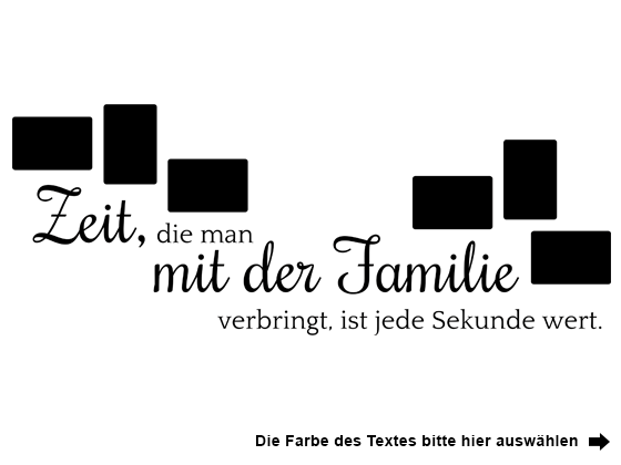 wandtattoo fotorahmen zeit mit der familie wandtattoo de. Black Bedroom Furniture Sets. Home Design Ideas