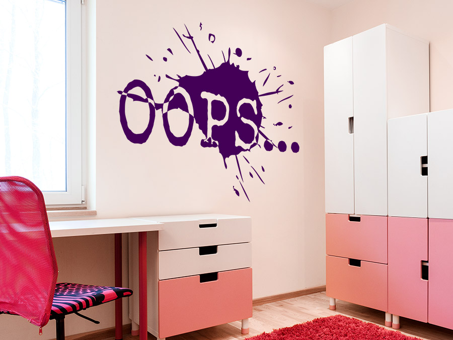 wandtattoo oops f r teenager wandtattoo de. Black Bedroom Furniture Sets. Home Design Ideas
