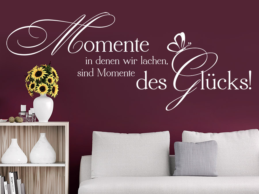 Wandtattoos fürs Altersheim - Sprüche, Blumen, Tafelfolie