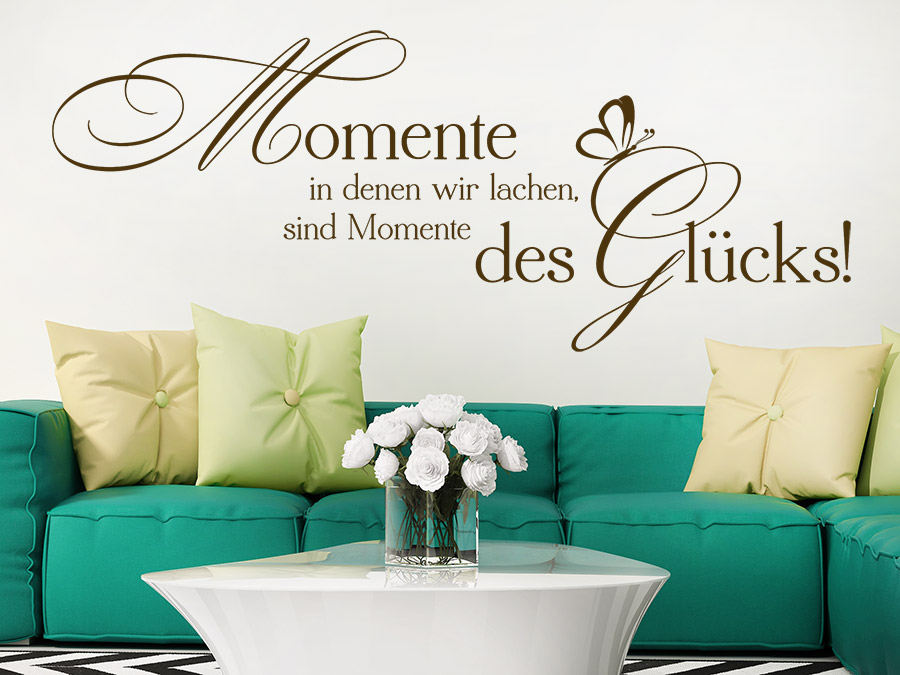 Gentil ... Spruch Wandtattoo Momente Des Glücks über Der Couch