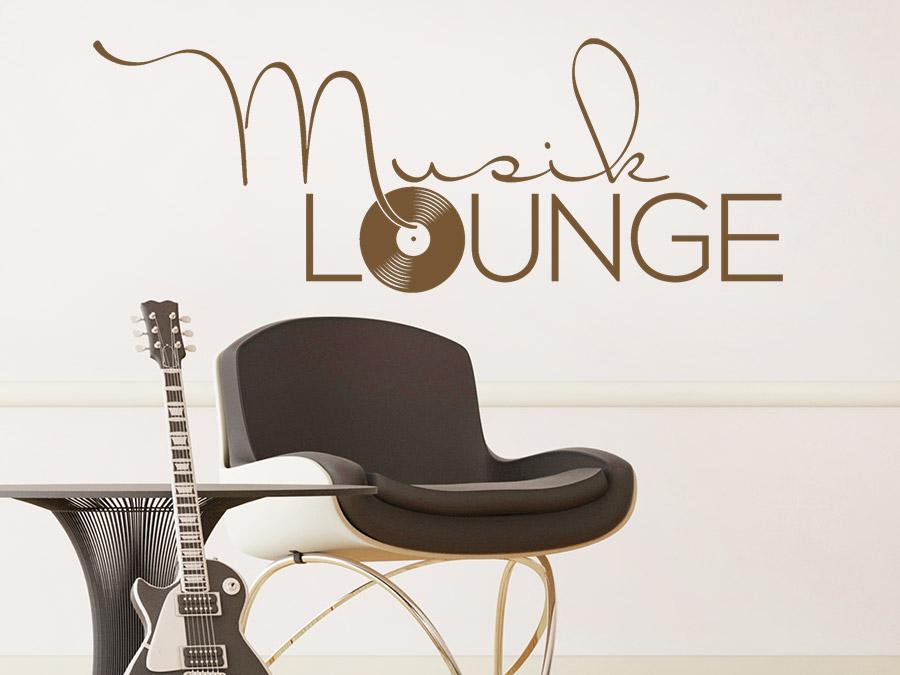 Wandtattoo musik lounge vinyl design wandtattoo de - Wandschablonen schlafzimmer ...