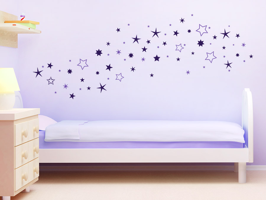 Sternenhimmel Bett wandtattoo zweifarbiger sternenhimmel wandtattoo de
