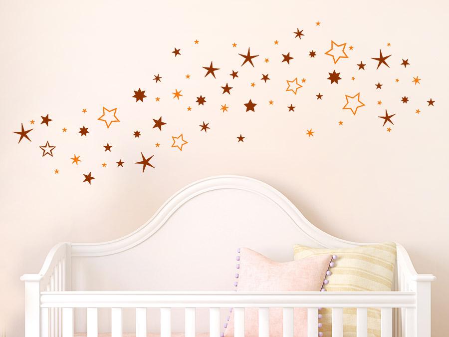 wandtattoo zweifarbiger sternenhimmel von. Black Bedroom Furniture Sets. Home Design Ideas