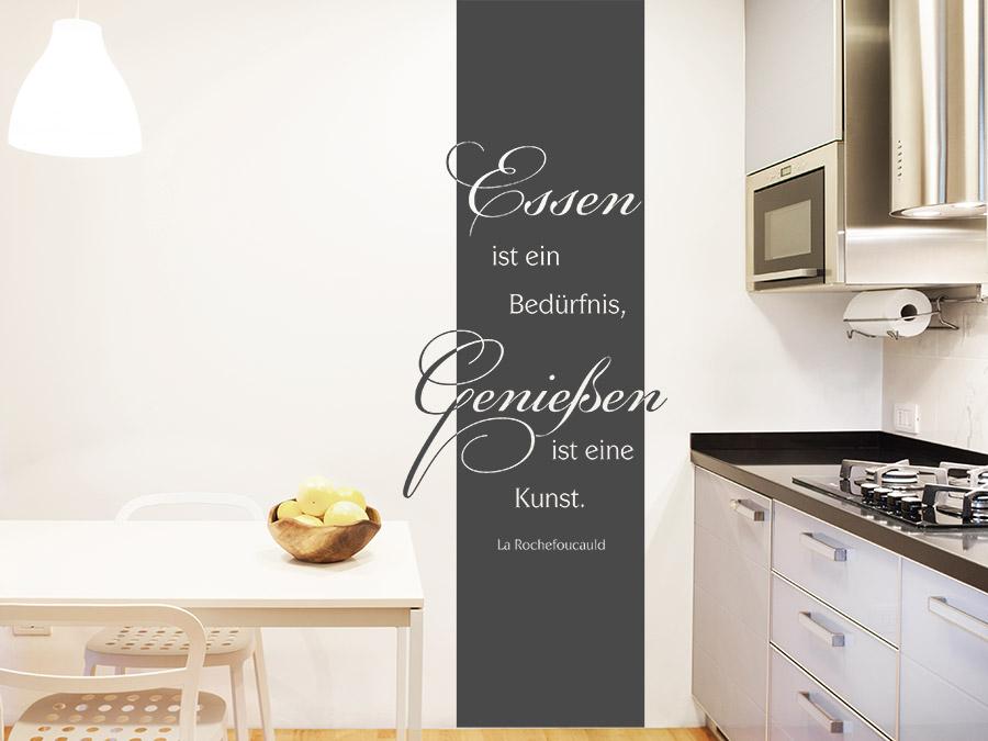 Wandtattoo banner essen und genie en wandbanner for Wanddesign flur