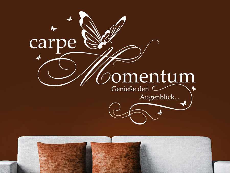 wandtattoo carpe momentum genie e den augenblick wandtattoo de. Black Bedroom Furniture Sets. Home Design Ideas