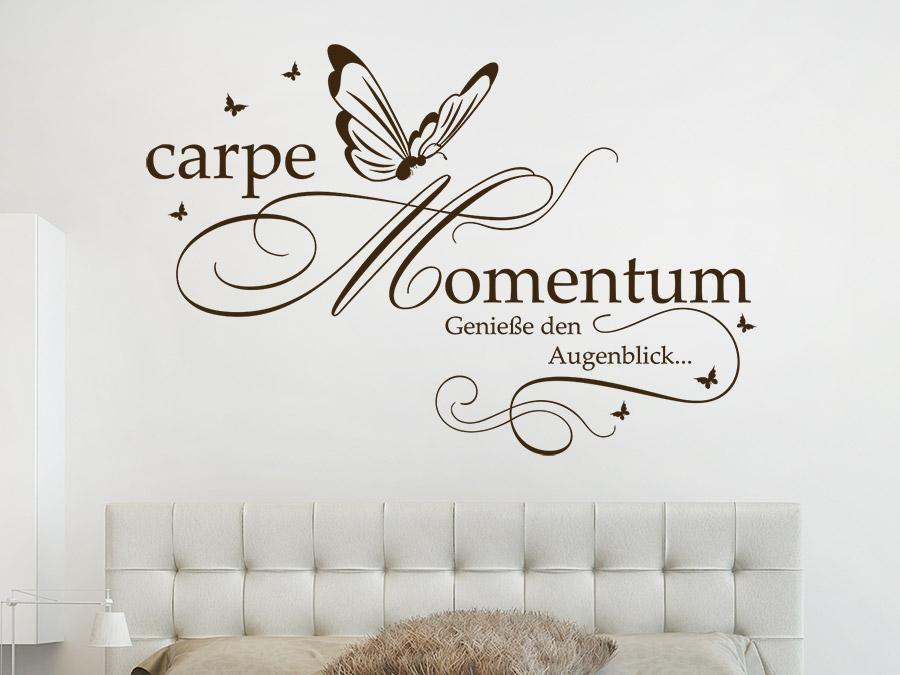 Wandtattoo Carpe Momentum Geniesse Den Augenblick Wandtattoo De