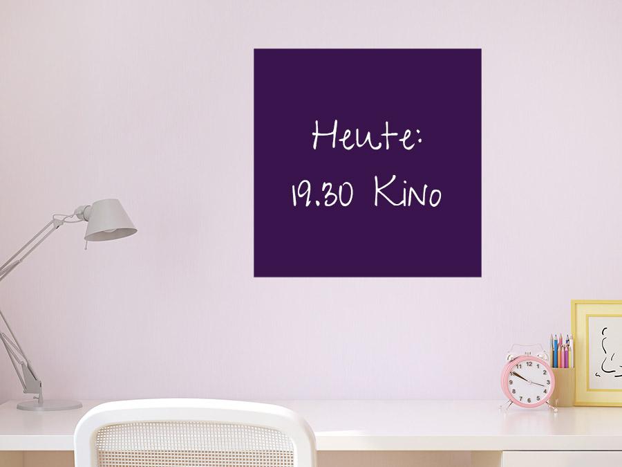 tafelfolie quadrat wandtattoo beschreibbar wandtattoo de. Black Bedroom Furniture Sets. Home Design Ideas