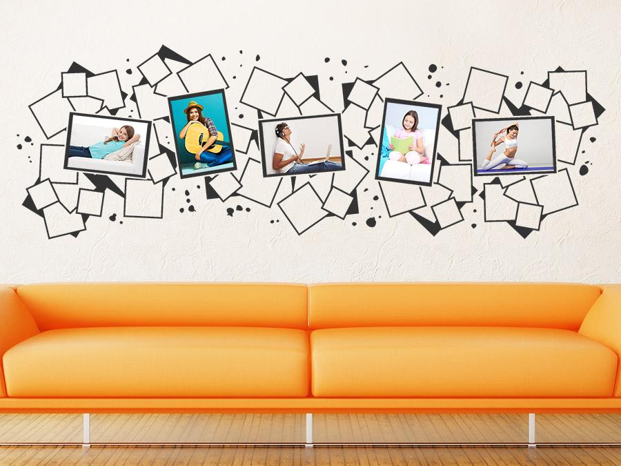 20coole ideen wandaufkleber design schlafzimmer küsschen