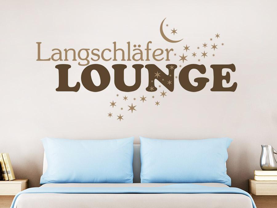 Zweifarbiges Wandtattoo Langschläfer Lounge von Wandtattoo.de