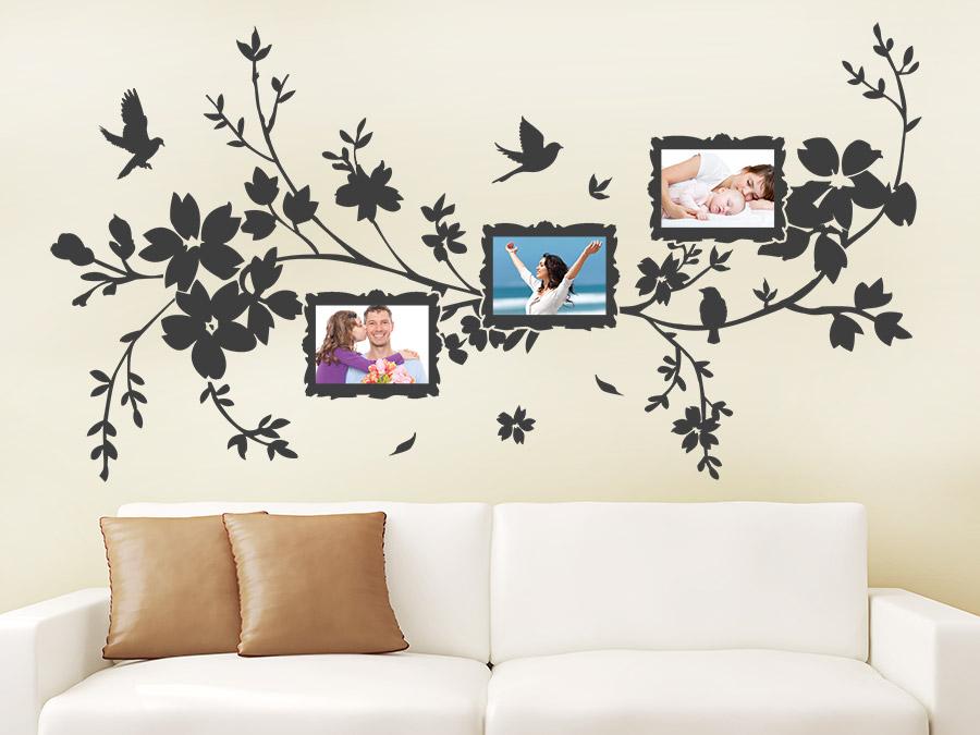 wandtattoo fotorahmen bl tentraum wandtattoo de. Black Bedroom Furniture Sets. Home Design Ideas
