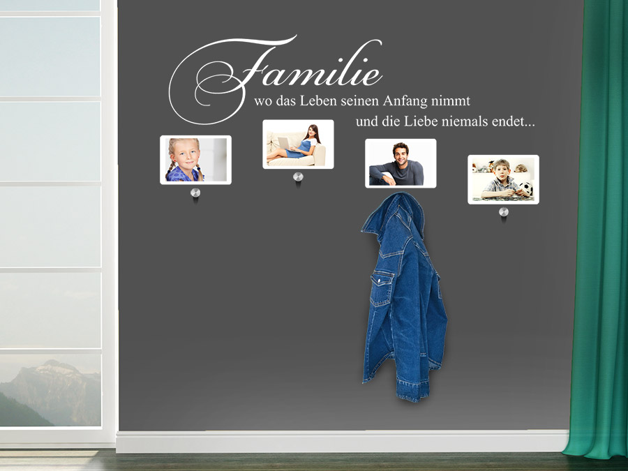 garderobe familie mit fotorahmen von. Black Bedroom Furniture Sets. Home Design Ideas