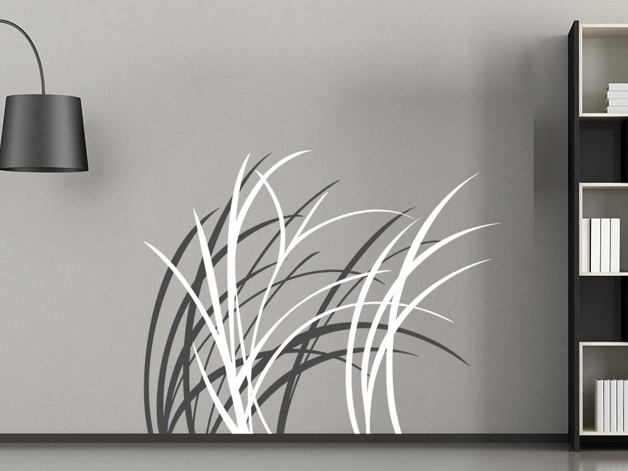 wandtattoo zweifarbige gr ser im wind wandtattoo de. Black Bedroom Furniture Sets. Home Design Ideas