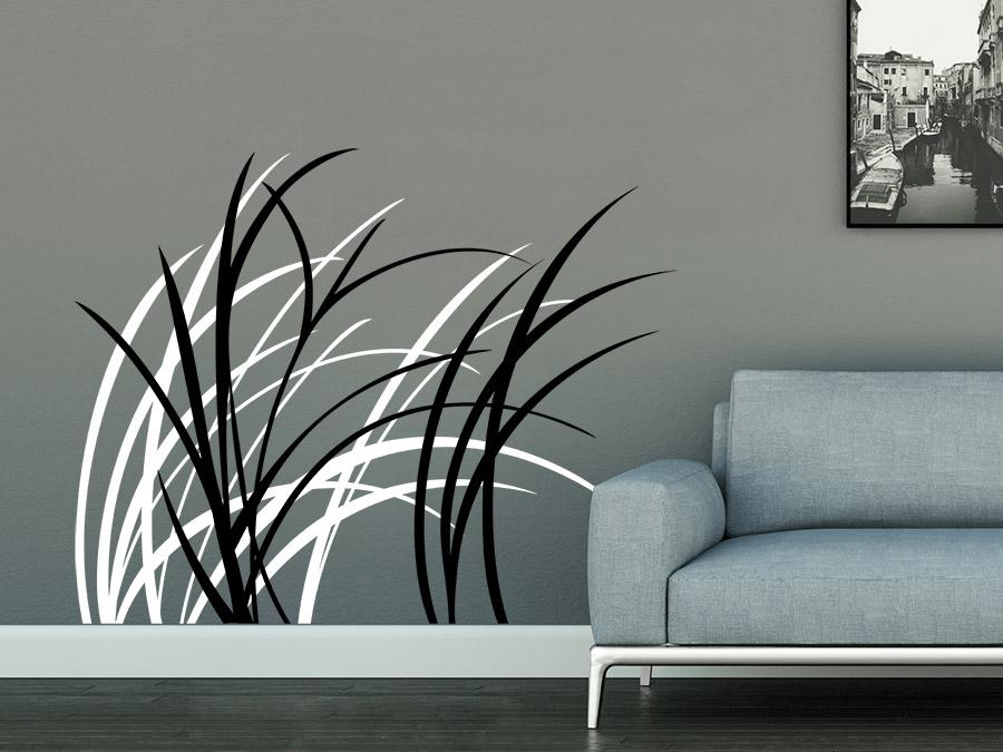 wandtattoo grashalme in bunten farben bei. Black Bedroom Furniture Sets. Home Design Ideas