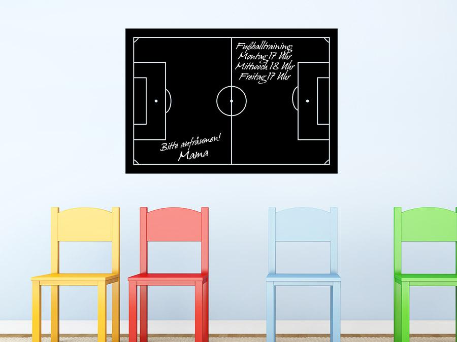 wandtattoo tafelfolie fu ballfeld beschreibbar wandtattoo de. Black Bedroom Furniture Sets. Home Design Ideas