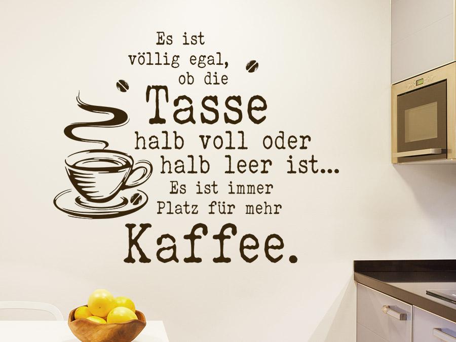 Wandtattoo Platz Fur Mehr Kaffee Wandtattoo De