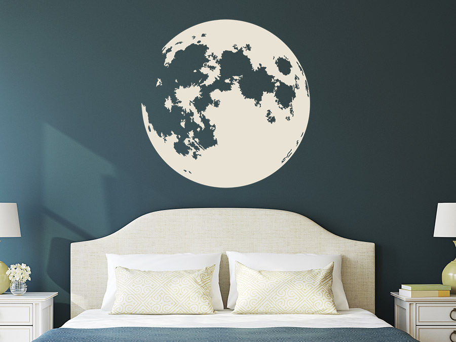 wandtattoo vollmond wandtattoo de. Black Bedroom Furniture Sets. Home Design Ideas